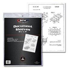 100 - 8 1/2 x 11 Document Photo Protectors, Poly Sleeves Acid Free BCW