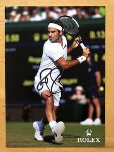 Roger Federer AK Tennis Wimbledonsieger Autogrammkarte original handsigniert 3