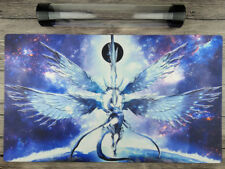 Deep-Eyes White Dragon YuGiOh Custom Playmat TCG Mat Free High Quality tube
