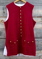 Revolutionary War Maroon Wool Vest 48