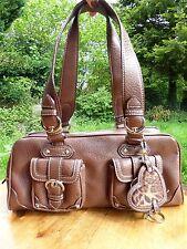 *NINE WEST* Ladies Brown Leather Look Shoulder GRAB BAG & KEYFOB BNWOT rrp£75