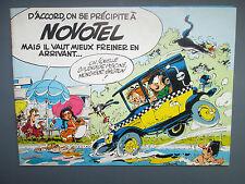 FRANQUIN Album publicitaire GASTON NOVOTEL 1980 QUASI NEUF