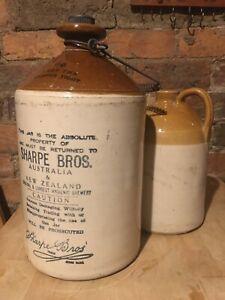 Antique brewing/beer jugs 'Sharpe Bros'