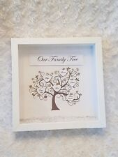 Personalised Family Tree Picture in frame mothers day nans gift Present