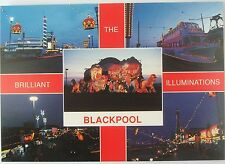 "Multiscene ""The Brilliant Blackpool illuminations"" postcard"