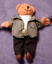 kleiner Teddy mit Jacket u Gürtel Sammlerteddy knuffiger Teddie Bär zu Sammeln
