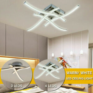 LED Ceiling Light 3/4 Lights Modern Kitchen Living Room Bedroom Pendant Lamp UK