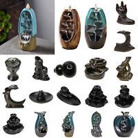 Keramik Wasserfall Rückfluss Rauch Weihrauch Räuchergefäß Halter Home Dekor