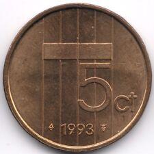 Netherlands : 5 Cents 1993