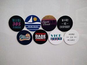 Miami Magnets - City of Miami Florida Magnets - City Pride -  8 Designs