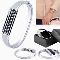 Luxury Stainless Steel Bracelet Bangle Metal Band Strap For Fitbit Flex2 Tracker
