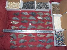 50 fossils plus 100 gemstones ammonites 3 inch Megalodon fossil shark teeth