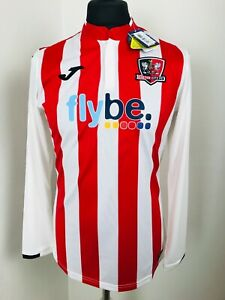 Exeter City football shirt 2018 - 2019 Home Soccer Jersey L/S Size Medium