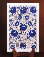 """18"""" x 12""""  Marble Corner Side Table Top Lapis Floral Inlay Home & Garden"""