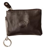 Australian Souvenir Leather Coin Purse Wallet Keyring Chain Embossed Kangaroo