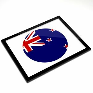 Glass Placemat 20x25 cm - New Zealand Flag Oceania  #9124