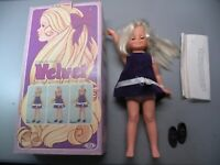 VINTAGE 1970  IDEAL CRISSY'S COUSIN VELVET DOLL -  HAIR THAT GROWS With BOX