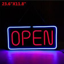 24x12 inch Big Horizontal Neon Open Sign Light Restauarant Business Bar Bright