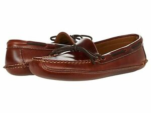 Man's Slippers L.L.Bean Leather Double-Sole Slipper Leather Lined