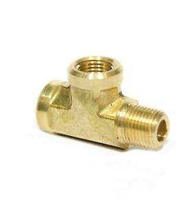 """Car Solid Brass Street Pipe Tee 1//8""""NPT Male X 1//8"""" NPT Two Female air fuel"""
