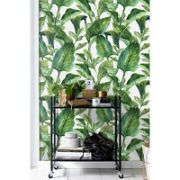 Tropical leaves Removable wallpaper green and yellow wall mural wall covering