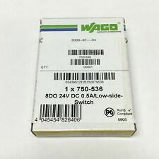 Wago 750-536 Digital Output Module, 8-Channel, 24VDC 0.5A, Low-Side Switching