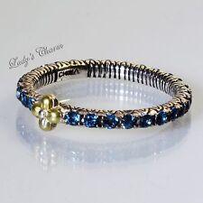 Barbara Bixby Sterling Silver 18K London Blue Topaz Astrology Stack Ring Size 9