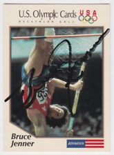 1991 IMPEL US OLYMPIC BRUCE JENNER DECATHLON GOLD AUTO AUTOGRAPH CARD #5 JSA