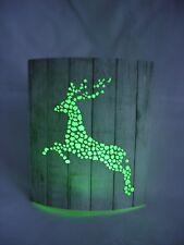 Led Light Up Stag Reindeer Decorative Plaque Card Lamp  Lantern Christmas