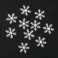 10 Crystal SnowFlake Buttons Flatback Embellishments DIY Jewelry Phone Craft