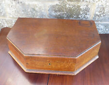 Vintage Wooden Oak Empty Cutlery Box / Canteen - The Orchid Cabinet