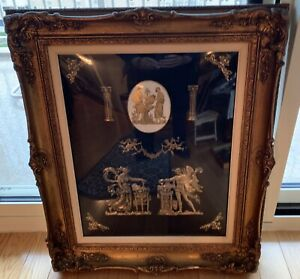 Andrew Kolb and Son Roman Stile Plaque Framed In Amazing Wood Frame Large Size