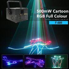 PRO 500mW Stage Light 3D Cartoon Animation RGB Full Color ILDA DMX Laser light R