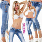 New Women's Stretch Jeans Denim Tight Fit Pants Size 6 8 10 12 14 XS S M L XL