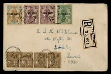 DR WHO 1926 MALTA OVPT VALLETTA REGISTERED TO USA  f81325