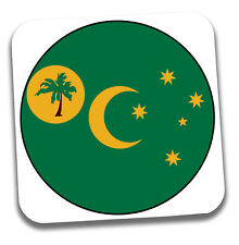 Cocos Islands Flag Drinks Coaster - Gift - Birthday - Stocking Filler