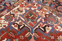 Pre-1900 Geometric Antique VEGETABLE DYE Oriental Area Rug Wool Carpet 8x11