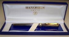 Waterman silver Fountain Pen with gold trim (has original box and instructions)