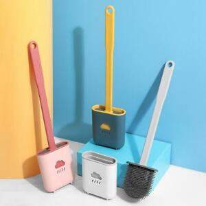 Revolutionary Silicone Flex Toilet Brush And Holder Creative Cleaning Brush Set