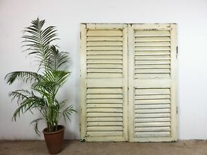 Large 5.5ft Pair of Wooden Shutters MILL-894/1