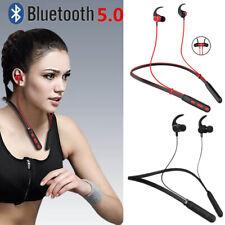 Magnetic Bluetooth Earphones Neckband Headphones Sport Gym For iPhone Samsung