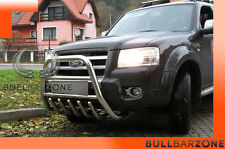 FORD RANGER 2007-2009 TUBO PROTEZIONE ALTO BULL BAR INOX STAINLESS STEEL