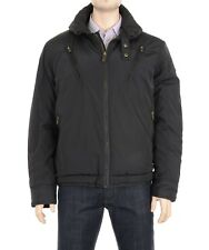 $225 Sean John Black Winter Parka Coat w/ Packable Hood Size XXL 2XL