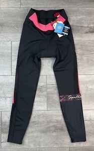 Santic Belize Padded Cycling Pants Pink Black Size L