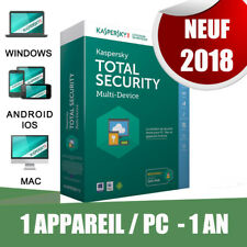 Kaspersky Total security 2018! 1 pc appareil Pc 1 An Original