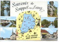 CP 77 Seine-et-Marne - Souppes-sur-Loing - Multivues colorisées