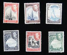 Set of 4 Bermuda Stamps Scott# 118-123 MHOG - B3041 ES