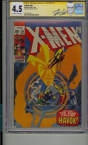 X-MEN #58 CGC 4.5 SS SIGNED STAN LEE 1ST APP HAVOK