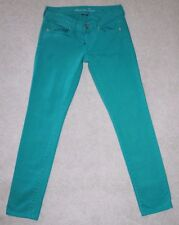 American Eagle Outfitters Women's Jeans Teal Green Skinny Stretch  Size 2
