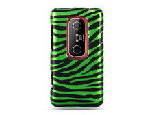 For Sprint HTC EVO 3D Protector HARD Case Snap on Phone Cover Green Zebra